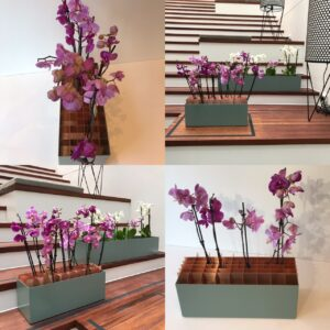 Blomster skulptur